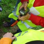Leerlingen met GPS toestel