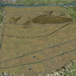 Overlay onontgonnen waard in Google Earth
